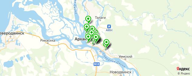 шиномонтажи на карте Архангельска