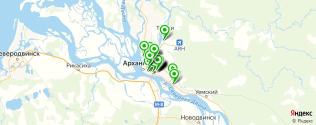 магазины запчастей на карте Архангельска