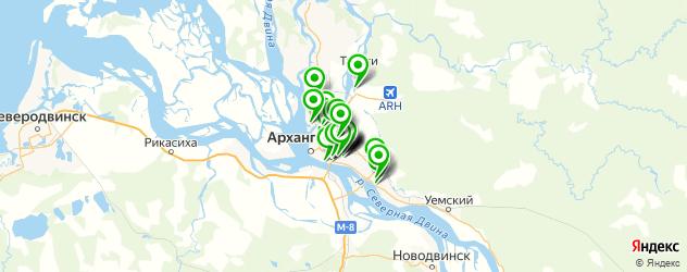 автосервисы на карте Архангельска