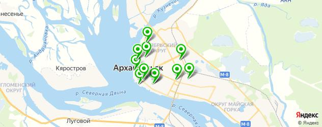 постные меню в ресторанах на карте Архангельска