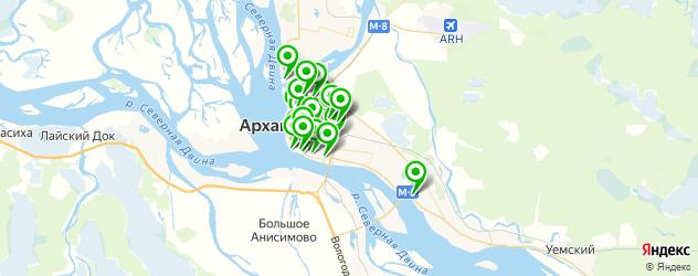 Доставка суши на карте Архангельска