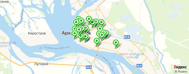 рестораны на карте Архангельска