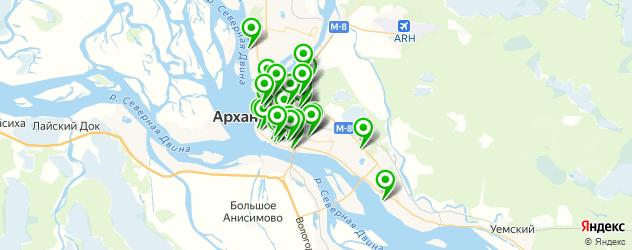 столовые на карте Архангельска