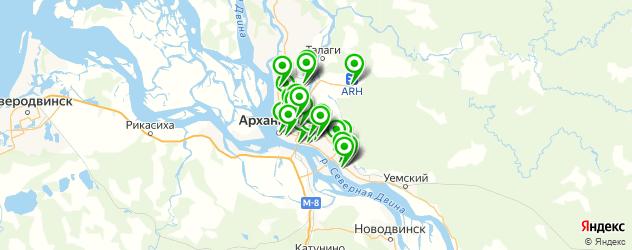 автостоянки на карте Архангельска
