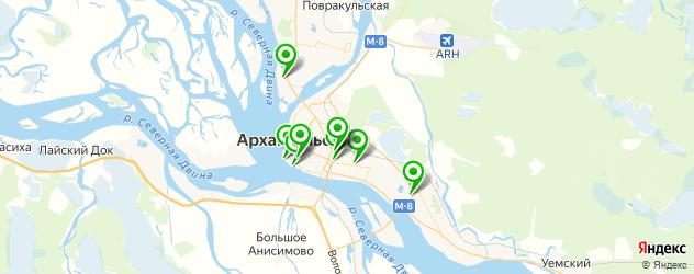 ночные клубы на карте Архангельска
