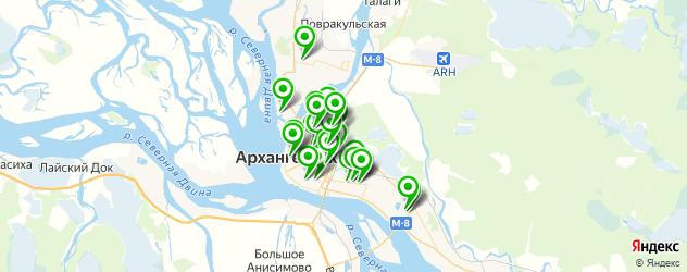 магазины шин и дисков на карте Архангельска
