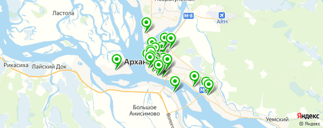 компьютерные помощи на карте Архангельска