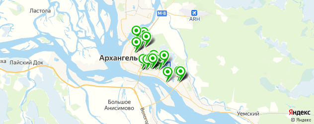 автосалоны на карте Архангельска