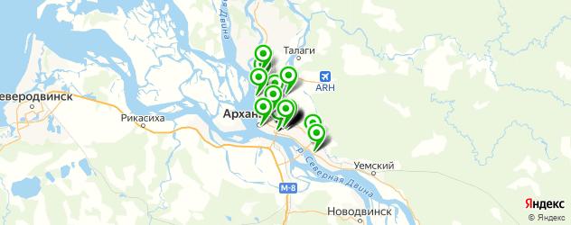 кузовные сервисы на карте Архангельска