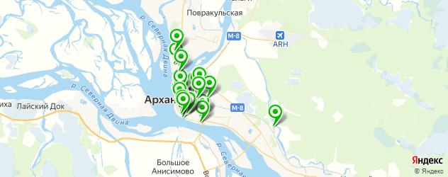 курсы на карте Архангельска