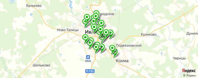 магазины шин и дисков на карте Иваново
