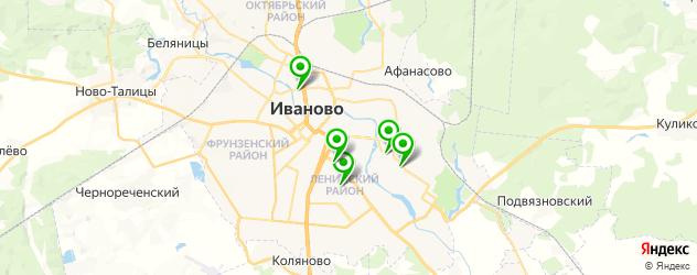 реабилитационные центры на карте Иваново