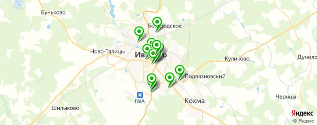 вегетарианские рестораны на карте Иваново