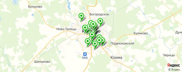 Доставка еды на карте Иваново