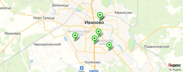 кинотеатры на карте Иваново
