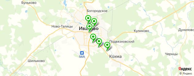 гимназии на карте Иваново
