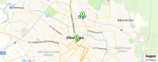 культурные центры на карте Иваново
