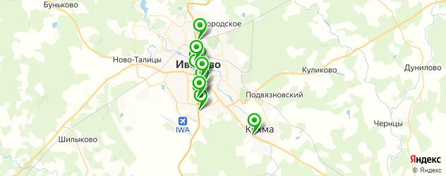 эвакуаторы на карте Иваново