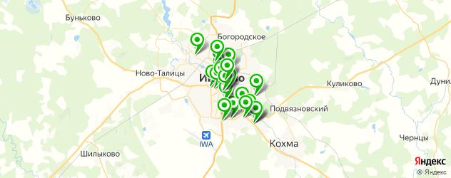 женские фитнес-клубы на карте Иваново