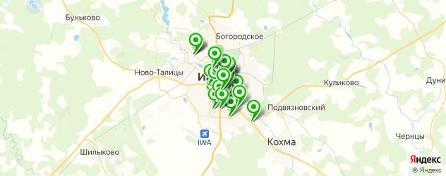 тренажерные залы на карте Иваново
