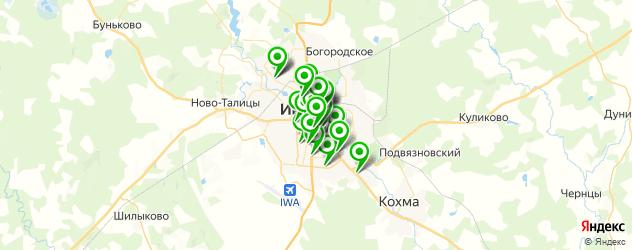 фитнес-клубы на карте Иваново
