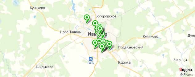 спортивные секции на карте Иваново