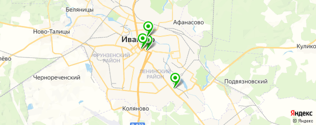 боулинги на карте Иваново