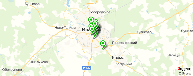 бесплатный Wi-Fi на карте Иваново
