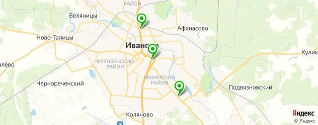 букмекерские конторы на карте Иваново