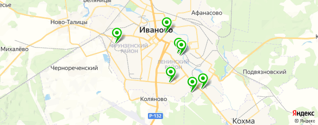 бассейны на карте Иваново