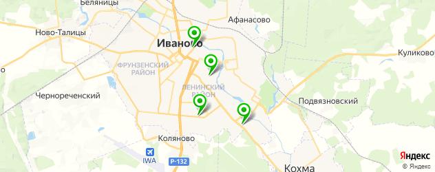 фитнесы с бассейном на карте Иваново