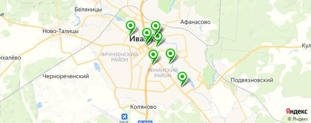 детские развлекательные центры на карте Иваново