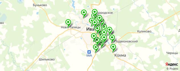 магазины запчастей на карте Иваново