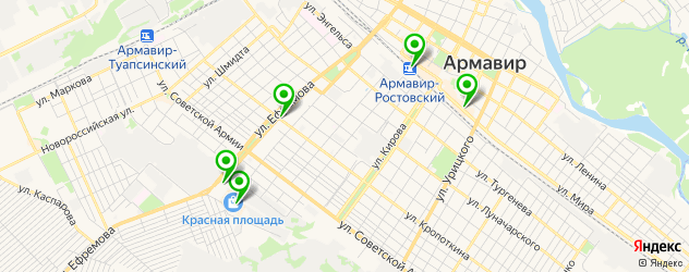 женские фитнес-клубы на карте Армавира