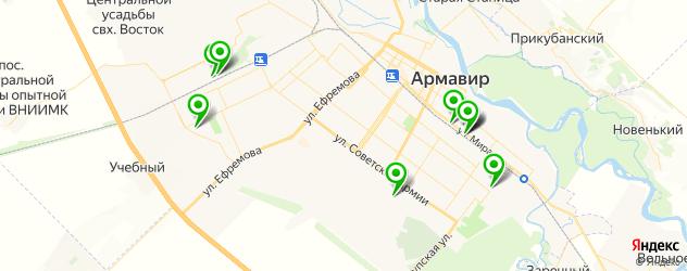 гаражи на карте Армавира