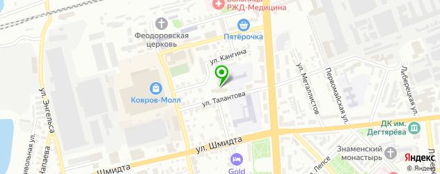 Доставка закусок на карте Коврова