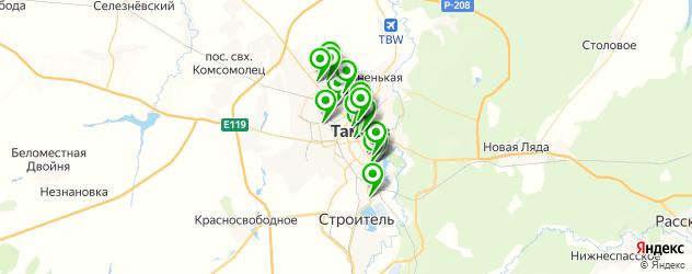 химчистки на карте Тамбова