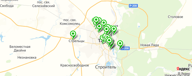 банкоматы на карте Тамбова