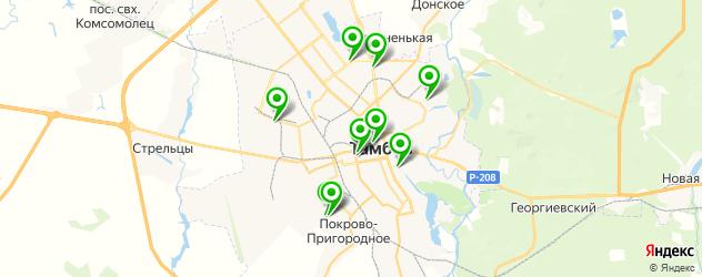 НИИ на карте Тамбова
