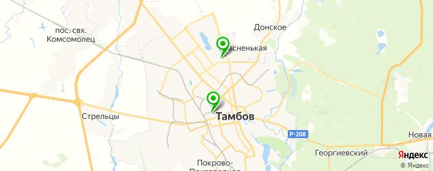 боулинги на карте Тамбова