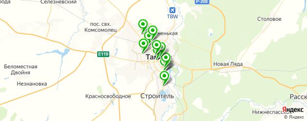 прачечные на карте Тамбова