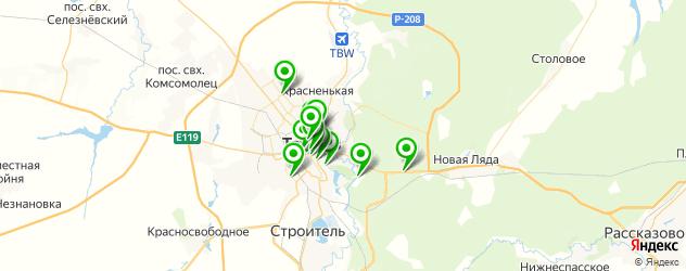 рестораны для свадьбы на карте Тамбова