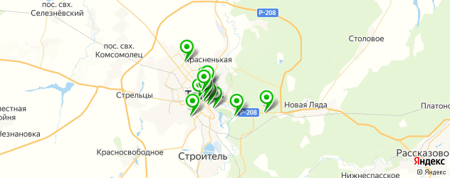 рестораны для дня рождения на карте Тамбова