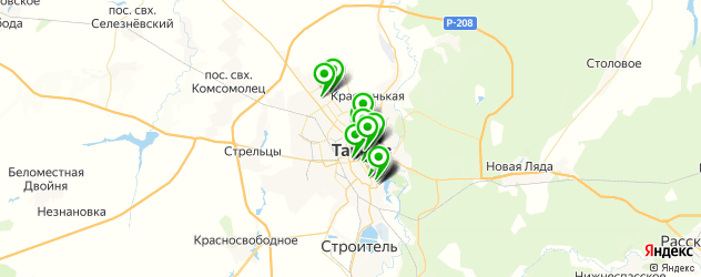 салоны красоты на карте Тамбова