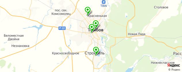 детские стоматологические поликлиники на карте Тамбова