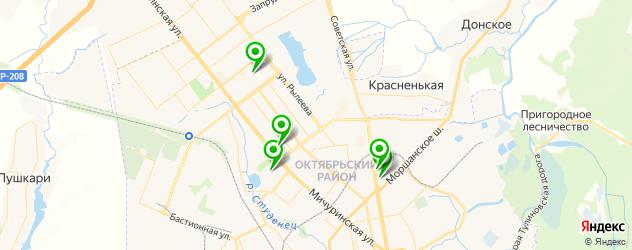 бассейны на карте Тамбова