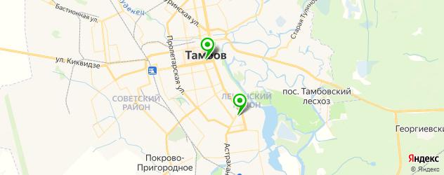 театры на карте Тамбова