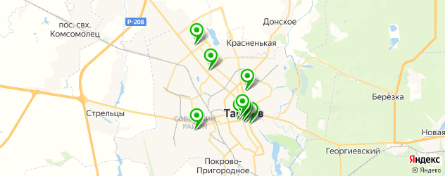 бары с живой музыкой на карте Тамбова