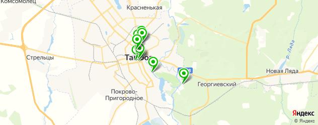 рестораны с танцполом на карте Тамбова