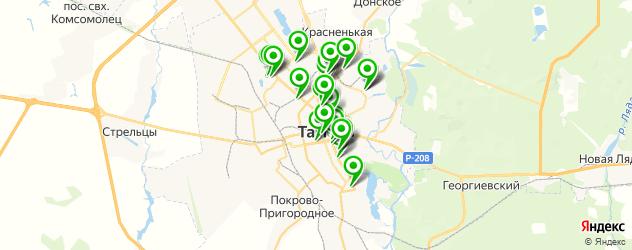 ВУЗы на карте Тамбова
